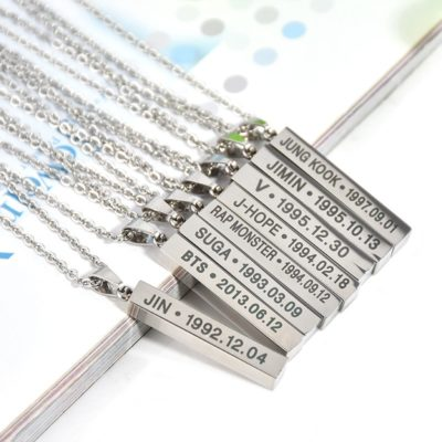 BTS Members Birth Necklace Merch
